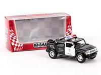 Машинка 1:40 Kinsmart джип 5  KT5097WP HUMMER H2 SUT POLICE (2005) , металл