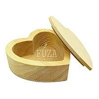 Шкатулка-сердце, сердечко деревянная для украшений, на подарок