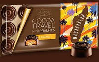 Молочный шоколад Baron excellent cocoa travel mini pralines caramel 0,100 гр.