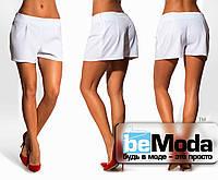 Модные женские шорты свободного кроя белые