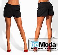Модные женские шорты свободного кроя черные