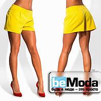 Модные женские шорты свободного кроя желтые
