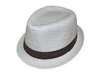 Шляпа челентанка лен флорес + украшение