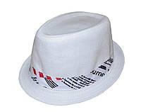Шляпа челентанка лен + украшение