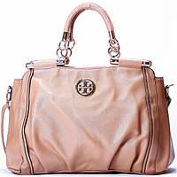 Женская сумка Tory Burch  бежевая