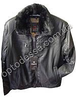 Зимняя мужская куртка с мехом Почти кожа (yw56), фото 1
