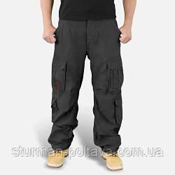 Штани чоловічі вінтажні широкі Карго AIRBORNE VINTAGE чорні склад бавовна 100% SURPLUS Німеччина