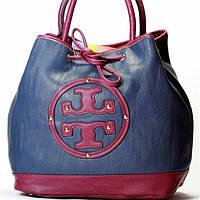 Женская сумка Tory Burch  синяя с фиолетовым, фото 1