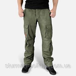 Штани чоловічі карго AIRBORNE SLIMMY колір олива склад 100% бавовна SURPLUS Німеччина