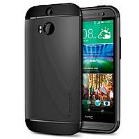 Бампер для HTC One M8 - SGP Slim Armor, серый