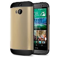 Бампер для HTC One M8 - SGP Slim Armor, золотой