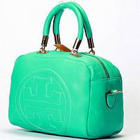 Женская сумка в стиле Tory Burch  голубой с бирюзой