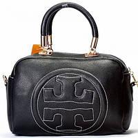 Женская сумка в стиле Tory Burch  черная
