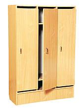 Шкаф 3-дверный для раздевалки в детском саду БУК