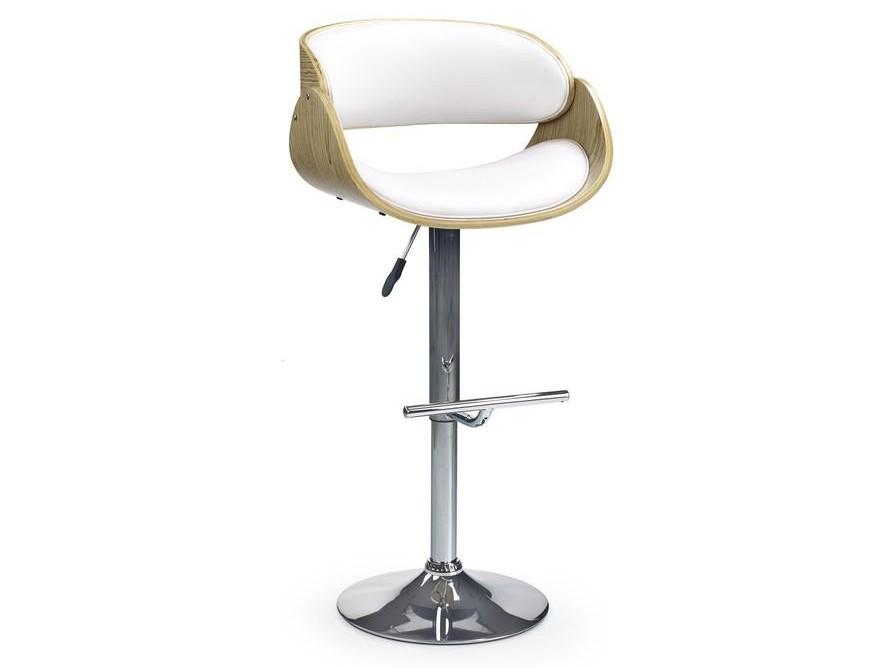 Барный стул H-43 светлый дуб/белый Halmar