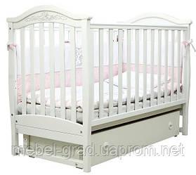 Ліжечко для новонароджених Соня ЛД 3 з маятником і ящиком Верес білий