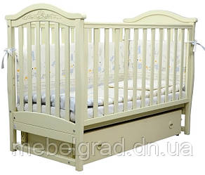 Ліжечко для новонароджених Соня ЛД 3 з маятником і ящиком Верес слонова кістка