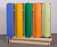 Шкаф 5-дверный для раздевалки с лавкой