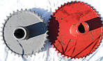 Комплект звездочек для увеличения оборотов барабана СК-5 Нива 54-151В-02 (Z-46 Z-36) под зерно