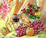 Схема для вышивания бисером Натюрморт с вином КМР 3148