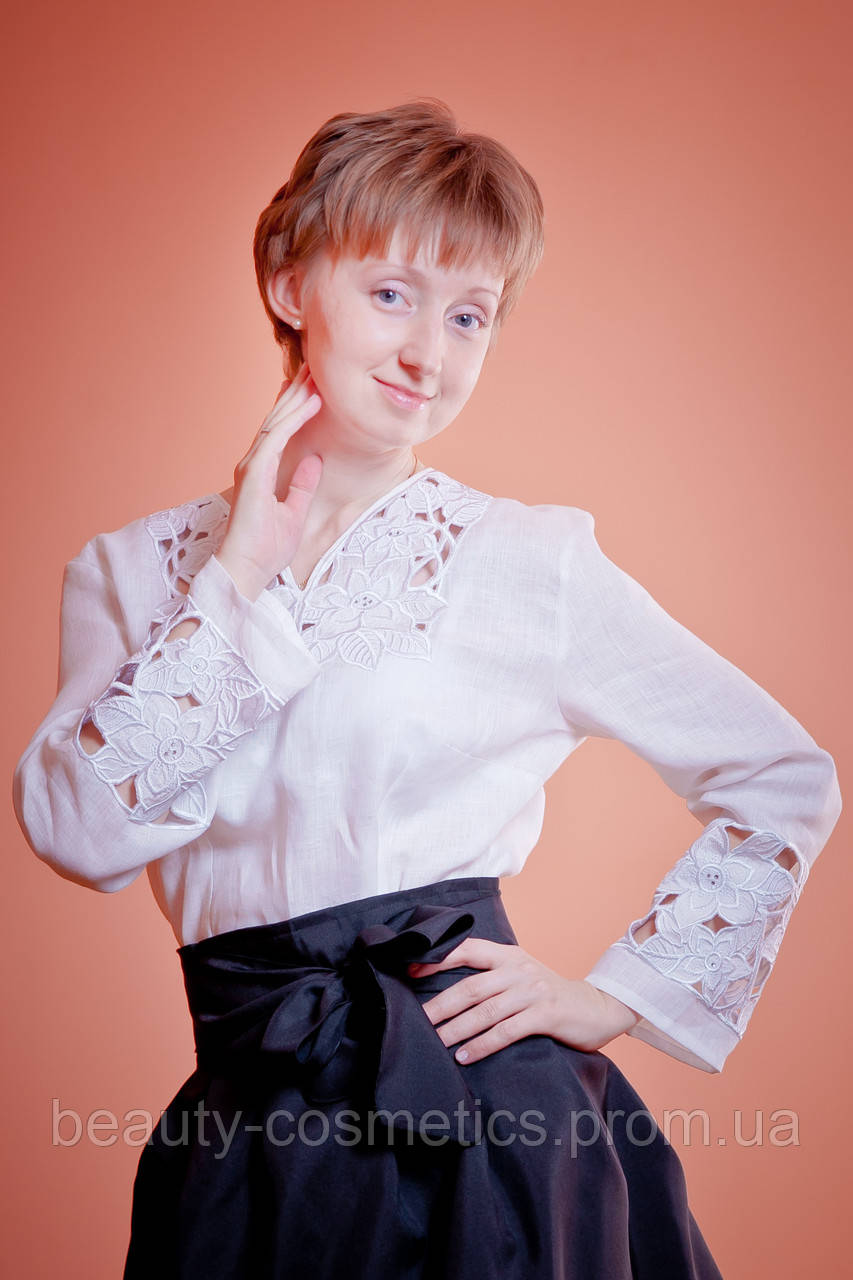 Блузы с вышивкой ришелье