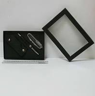 """Набор подарочный """"Rhinestones"""" ручка+нож+чехол черн"""