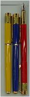 Ручка 728 перо Цветн. с золотом уп15