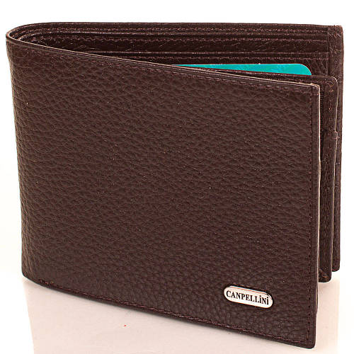 Модный кожаный кошелек CANPELLINI (КАНПЕЛЛИНИ) SHI1044-10FL коричневый
