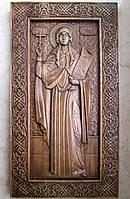 Икона резная Святой преподобной Светланы (Фотины, Фотинии)
