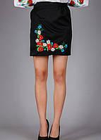 Вышитая юбка - плахта с цветочным узором
