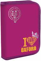 Пенал твёрдый одинарный на молнии Oxford pink