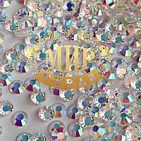 Камни Preciosa(Чехия) Цвет Crystal AB (unf) Размер ss16 (3,8-4мм) Фиксация на клей Упаковка 100шт