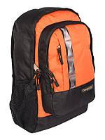 Надежный городской рюкзак 25 л One polar W1106 черно-оранжевый прочный качественный