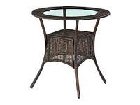 Стол обеденный стеклянный MIDAS темно-коричневый Halmar