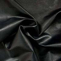 Стрейч-кожа глянцевая - цвет черный