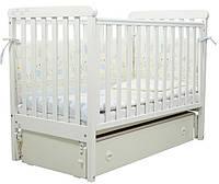 Кроватка для новорожденных Соня ЛД 12 с маятником и ящиком Верес белый
