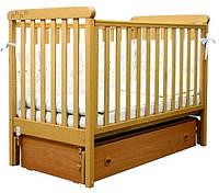 Кроватка для новорожденных Соня ЛД 12 с маятником и ящиком Верес бук