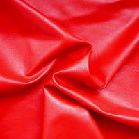 Стрейч-кожа глянцевая - цвет красный