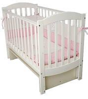 Кроватка для новорожденных Соня ЛД 10 с маятником Верес белый