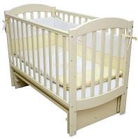 Кроватка для новорожденных Соня ЛД 10 с маятником Верес слоновая кость