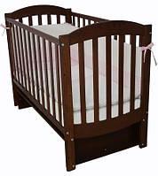 Кроватка для новорожденных Соня ЛД 10 с маятником Верес орех