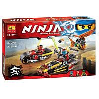 """Конструктор Bela Ninja 10444 """"Погоня на мотоциклах"""", 230 дет"""
