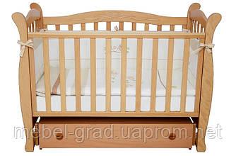 Ліжечко для новонароджених Соня ЛД 15 з маятником і ящиком Верес бук