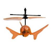 Летающий шар на ИК управлении - AERO SPIN (оранжевый, подсветка)