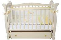 Кроватка для новорожденных Соня ЛД 15 Верес слоновая кость