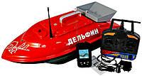 Кораблик для прикормки Дельфин - 2LS (с эхолотом Lucky FF718LiW + GPS)