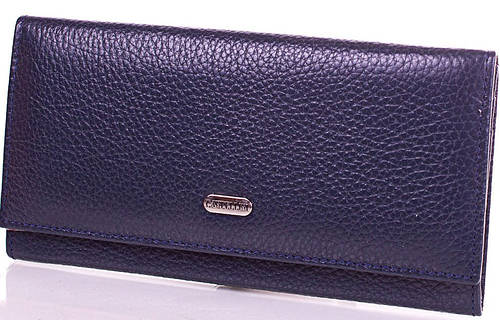 Синий женский кожаный кошелек CANPELLINI (КАНПЕЛЛИНИ), SHI2035-6FL