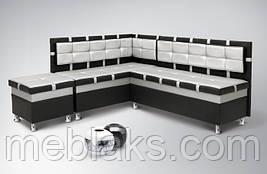 Мягкий кухонный уголок Чак-4 (с нишами)