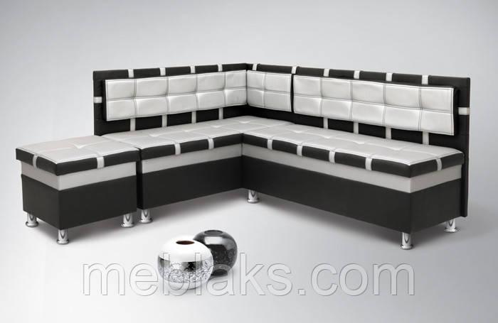 Мягкий кухонный уголок Чак-4 (с нишами)   Udin, фото 1