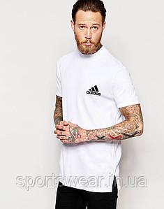 """Футболка белая Adidas маленький значек """""""" В стиле Adidas """""""""""